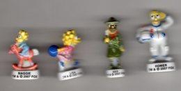 Série 4/10 Fèves Brillantes LE MONDE DES SIMPSON 2007 Arguydal - Cartoons