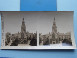 DINAN : Eglise St. Sauveur. Façade : S. 205 - 4279 ( Maison De La Bonne Presse VUES De FRANCE ) Stereo Photo ! - Stereoscopic