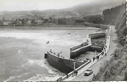 Photograph Postcard, Spain, Zarauz, Zarautz, 63. - Puerto Vista, Harbour Port View, Automobile. - Guipúzcoa (San Sebastián)