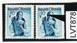LTV878 ÖSTERREICH 1948 Michl 895 VIIII PLATTENFEHLER HAARSTRÄHNE ** Postfrisch - Abarten & Kuriositäten