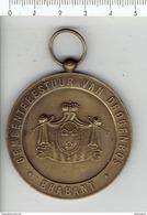 Medaille 164 GEMEENTEBESTUUR VAN DROGENBOS BRABANT -jaarmarkt Foire Chiens Honden 1971 - Tokens Of Communes