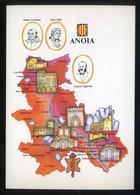 *Anoia* Congrés Cultura Catalana 1977. Campanya Identificació Del Territori. Nueva. - Mapas