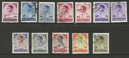 Thailand - 1973-9 King Bhumibol  Used    Sc 652-61 - Thaïlande