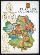 *El Vallès Occidental* Congrés Cultura Catalana 1977. Campanya Identificació Del Territori. Nueva. - Mapas
