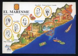 *El Maresme* Congrés Cultura Catalana 1977. Campanya Identificació Del Territori. Nueva. - Mapas