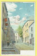 * Arlon - Aarlen (Luxembourg - La Wallonie) * (Belgique Pittoresque, 28-48, Lith JL Goffart) Escalier St Donat, Pipe - Arlon