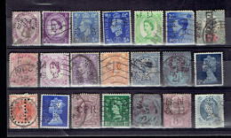 Lot UK 3 - Perfins - Perforés - Perforiert - Grande-Bretagne Toutes époques - Grande-Bretagne
