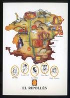 *El Ripollès* Congrés Cultura Catalana 1977. Campanya Identificació Del Territori. Nueva. - Mapas
