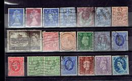 Lot UK 4 - Perfins - Perforés - Perforiert - Grande-Bretagne Toutes époques - Grande-Bretagne