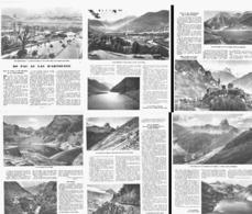 """De """" PAU Au LAC D'ARTOUSE """" SAVIGNACQ / CASTET / PAU /TRAIN CHENILLES DU LAC D'ARTOUSE /    1949 - Midi-Pyrénées"""