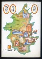 *L'Urgell* Congrés Cultura Catalana 1977. Campanya Identificació Del Territori. Nueva. - Mapas