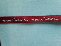"""Ruban CARTIER   """" Parfums CARTIER  Paris   + 28 Cm   !! - Modern (from 1961)"""