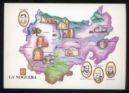 *La Noguera* Congrès Cultura Catalana 1977. Campanya Identificació Del Territori. Nueva. - Mapas