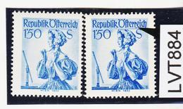 """LTV884 ÖSTERREICH 1951 Michl 916 I PLATTENFEHLER FARBPUNKT Nach """"rr"""" ** Postfrisch - Abarten & Kuriositäten"""