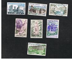 FRANCIA (FRANCE) -   SG 1461.1467  -    1960  TOURISM: COMPLET SET OF 7        - USED - Francia