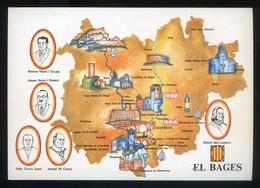 *El Bages* Congrès Cultura Catalana 1977. Campanya Identificació Del Territori. Nueva. - Mapas