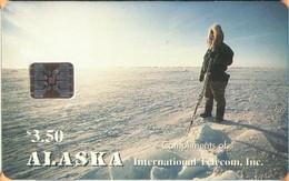 Alaska - Alaskan Eskimo Hunter, Arctic Ocean, Landscapes, Winter, 3.50 $, 3,000ex, 12/93, Mint - Telefonkarten