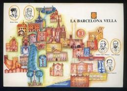 *La Barcelona Vella* Congrès Cultura Catalana 1977. Campanya Identificació Del Territori. Nueva. - Mapas