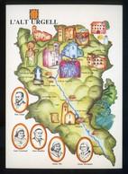 *L'Alt Urgell* Congrès Cultura Catalana 1977. Campanya Identificació Del Territori. Nueva. - Mapas
