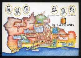 *El Barcelonès* Congrès Cultura Catalana 1977. Campanya Identificació Del Territori. Nueva. - Mapas
