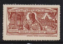 Heilig Jaar 1950, Paus Pius XII, Intenties, Uitgegeven Door De Paters In Boxtel, Postfris - Erinnofilie