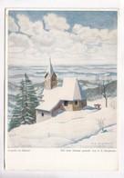 Kapelle Im Schnee, Mit Dem Munde Gemalt Von E. Stegmann, Unused Postcard [22292] - Paintings
