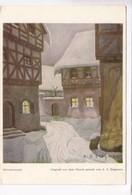 Sylvesternacht, Mit Dem Munde Gemalt Von A. E. Stegmann, Unused Card [22293] - Paintings