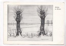 Weiden Im Winter, Erich Stegmann, 1941 Used Postcard [22294] - Paintings