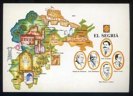 *El Segrià* Congrès Cultura Catalana 1977. Campanya Identificació Del Territori. Nueva. - Mapas