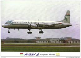 AIRPLANE AEROPLANE AIRCRAFT ILYUSHIN IL-18 HUNGARIAN AIRLINES MALEV LONDON ENGLAND UNITED KINGDOM Reg Volt 0147 Hungary - 1946-....: Ere Moderne