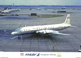 AIRPLANE AEROPLANE AIRCRAFT ILYUSHIN IL-18 HUNGARIAN AIRLINES MALEV LONDON ENGLAND UNITED KINGDOM Reg Volt 0206 Hungary - 1946-....: Ere Moderne