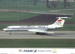 AIRPLANE AEROPLANE AIRCRAFT TUPOLEV TU-134 HUNGARIAN AIRLINES MALEV * ZURICH SWITZERLAND SWISS * Reg Volt 0209 * Hungary - 1946-....: Ere Moderne