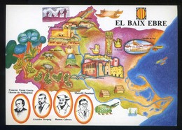 *El Baix Ebre* Congrès Cultura Catalana 1977. Campanya Identificació Del Territori. Nueva. - Mapas