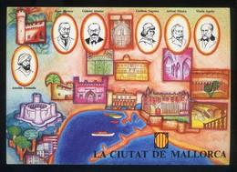 *La Ciutat De Mallorca* Congrès Cultura Catalana 1977. Campanya Identificació Del Territori. - Mapas