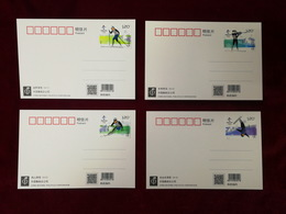 China 2018 Olympic Winter Game Beijing 2022-Snow Sports Postal Cards - Winter 2022: Beijing