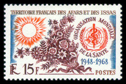 Afars And Issas, 1968, WHO, World Health Organization, United Nations, MNH, Michel 11 - Afars Et Issas (1967-1977)