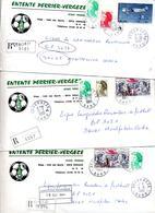 Lettre Recommandee  Vauvert  Sur Liberte Farman Codos 3 Types Etiquette Entete Perrier - Marcophilie (Lettres)