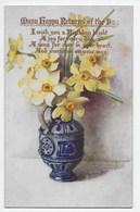 Flowers In A Vase - Tuck Oilette 9987 - Flowers