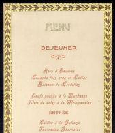 1905 MENU LUNCH Avant La Voyage De ROI De PORTUGAL En FRANCE. Menu Almoço 1 Dia Antes Da Chegada REI D.CARLOS A FRANÇA - Menus
