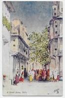 A Street Scene, Delhi - Tuck Oilette 9966 - India