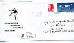 Lettre Recommandee Saint Mathieu De Treviers Sur Liberte Farman - Marcophilie (Lettres)