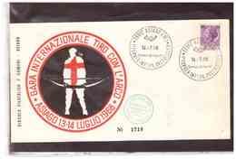 TEM3084 -       GARA INTERNAZIONALE TIRO CON L'ARCO        /      ASIAGO  14.7.1968 - Tiro Al Arco