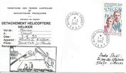 YT 198 - Andrée Et Edgar Aubert De La Rüe - Alfred Faure - Crozet - Détachement Hélicoptère HELIKER - French Southern And Antarctic Territories (TAAF)