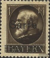 Saar 27 With Hinge 1920 King Ludwig - 1920-35 League Of Nations