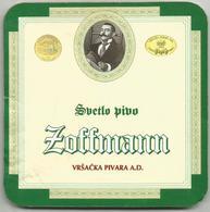 ZOFFMANN  BEER VRSACKA PIVARA VRSAC BREWERY SERBIA YUGOSLAVIA (out Of Business) - Sous-bocks