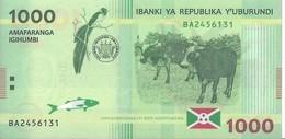 BURUNDI - 1000 Francs 2015 - UNC - Pick 51 - Burundi