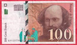 """100 Francs """"Cézanne"""" 1997 ----VF/SUP---n °Q 012579866 - 1992-2000 Dernière Gamme"""
