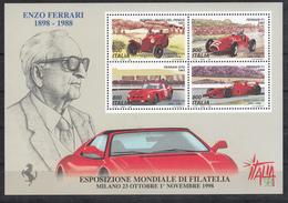 Italia - 1998 - Expo Filatelia ** - Foglietto N. 20 - 6. 1946-.. Repubblica