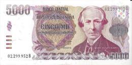 ARGENTINE - 5000 Pesos 1984-85 UNC - Argentine
