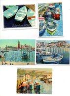 Calendrier De Poche 5  Pcs/stuk Zakkalender  Pocket Calendar Taschenkalender Frankrijk France Boten Bateau Ship Schiff - Calendriers